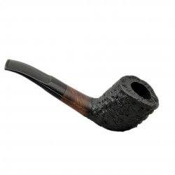 BETA #99 briar bent zulu rustic black tobacco pipe by Mr. Brog (Poland)
