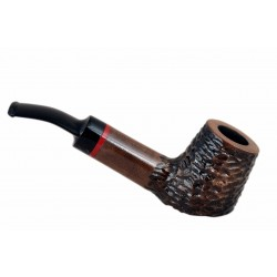 AMIGO no. 51 pearwood standing brown bent billiard tobacco smoking pipe by Mr. Brog (Poland)