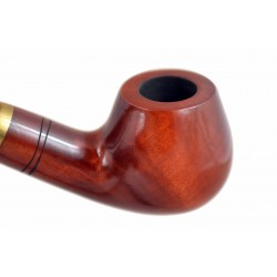 CHURCHWARDEN no. 14 pearwood smooth orange long tobacco smoking pipe by Mr. Brog (Poland)