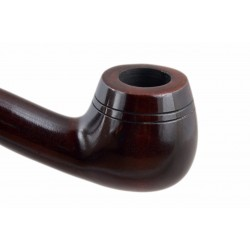 CHURCHWARDEN no. 14 pearwood long carved dark brown tobacco smoking pipe by Mr. Brog (Poland)