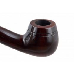 CHURCHWARDEN no. 14 pearwood long carved dark brown tobacco smoking pipe by Mr. Brog (Poland)