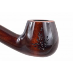 CHURCHWARDEN no. 14 pearwood long carved brown tobacco smoking pipe by Mr. Brog (Poland)