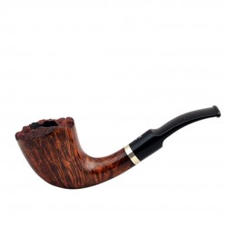 No. 500-4 Handmade briar bent fleur brown smooth pipe