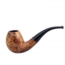 No. 80 briar bent egg light brown smooth pipe