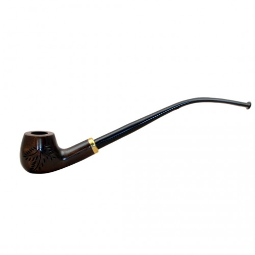CHURCHWARDEN pearwood brown long tobacco smoking pipe by Mr. Brog (Poland)