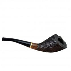 INDIGO #310 bent handmade pearwood tobacco smoking pipe by Mr. Brog (Poland)