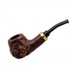 RUBEL #132 briar brown rustic mini pipe