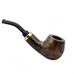 RUBEL #132 briar brown smooth mini pipe