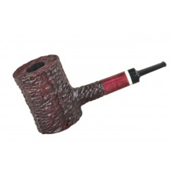 LUMBERJACK massive rustic red pearwood tobacco smoking pipe by Mr. Brog (Poland)