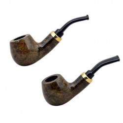 RUBEL #132 briar brown smooth mini pipe