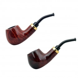 RUBEL #132 briar red mini pipe