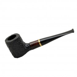 POKER briar straight rustic brown and black tobacco smoking pipe by Mr. Brog (..
