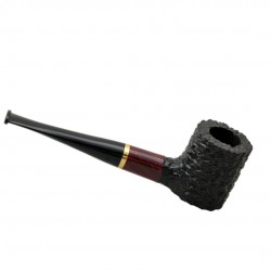 POKER briar straight rustic brown and black tobacco smoking pipe by Mr. Brog (Poland)
