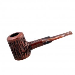 AGED no. 107 briar straight smooth dark brown poker pipe by Mr. Brog (Poland)