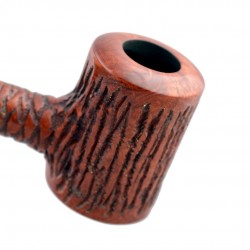 AGED no. 107 straight rustic brown poker pipe