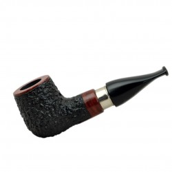 BELFAST no. 69 briar straight chubby rustic black billiard tobacco smoking pipe by Mr. Brog (Poland)