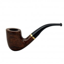 STEWARD No. 90 full bent smooth brown pipe