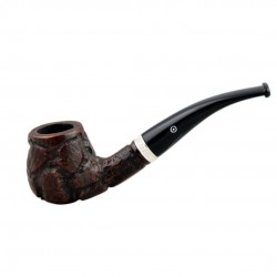 CONSUL #82 briar black bent apple pipe