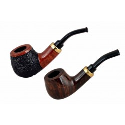 RUBEL no. 132 briar bent petite apple tobacco smoking pipe by Mr. Brog (Poland)