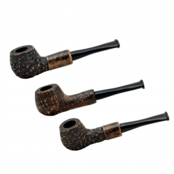 HUANA #50 briar mini brown rustic tobacco smoking pipe