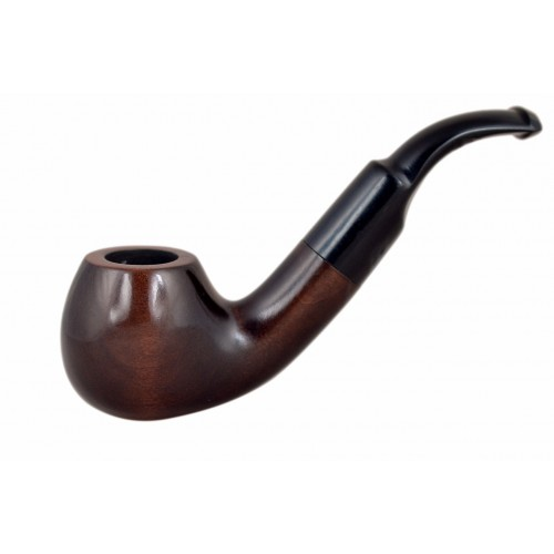 TABACHOS no. 41 pearwood smooth bent apple tobacco smoking pipe by Mr. Brog (Poland)
