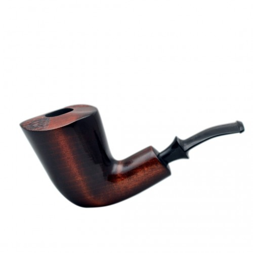 XL GIANT massive  brown carved pearwood tobacco smoking pipe by Mr. Brog (Poland)