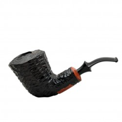 XL GIANT massive rustic black pearwood tobacco smoking pipe by Mr. Brog (Poland)