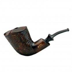 XL GIANT massive rustic brown pearwood tobacco smoking pipe by Mr. Brog (Poland)
