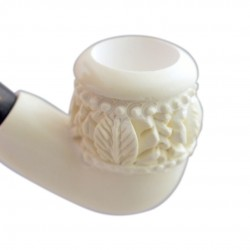 Bent carved meerschaum pipe