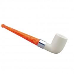 Straight billiard meerschaum pipe