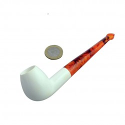 Straight meerschaum pipe