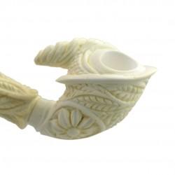 Straight carved meerschaum pipe