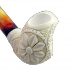 Bent carved meerschaum pipe 04
