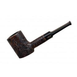 JUNIOR (sabbiata noce 2710) briar sandblasted handmade poker brown tobacco smo..
