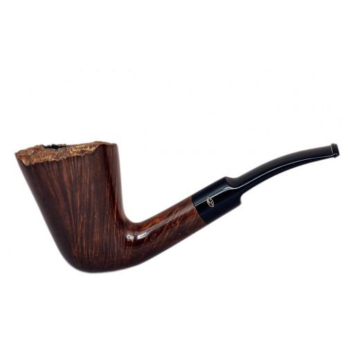 SUNSHINE briar bent freehand dark brown tobacco smoking pipe from Gasparini (Italy)