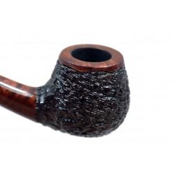 ATU no. 129 briar bent small rustic black and brown pipe by Mr. Brog (Poland)