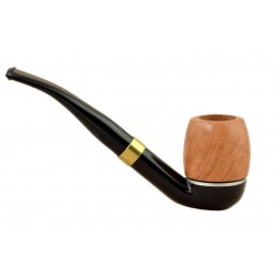 FALCON international filter pipe: bent stem with Hunter billiard bowl (UK)