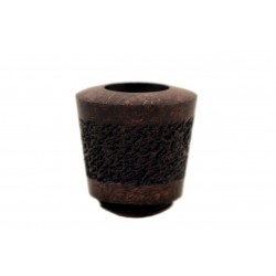 FALCON extra pipe: bent stem with classic range rustic hyperbole bowl (UK)