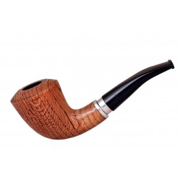 #21 Dark brown bent dublin oak tobacco smoking pipe from Golden Pipe (Poland)