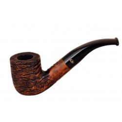 RUSTIC MARRONI Briar bent billiard dark brown rustic tobacco smoking pipe from Gasparini (Italy)