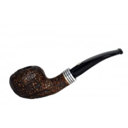 M.P.B. 'NOVA' SABBIATA (135) briar bent author sandblasted tobacco smoking pipe from Brebbia (Italy)