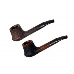 DACOTA no. 105 briar straight rustic brown volcano tobacco smoking pipe by Mr...