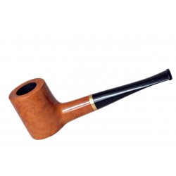 POKER briar straight smooth orange tobacco smoking pipe by Mr. Brog (Poland)