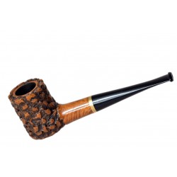 POKER briar straight rustic light brown tobacco smoking pipe by Mr. Brog (Poland)
