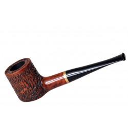 POKER briar straight rustic red tobacco smoking pipe by Mr. Brog (Poland)