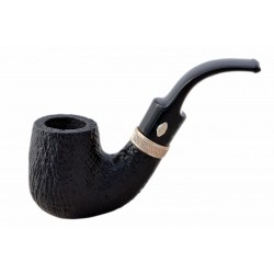 SAILING (Sabbiata 6006) briar bent billiard pipe with sterling silver band by Brebbia (Italy)